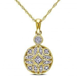 Designer Rose Gold 1.3/Carat Diamond Necklace